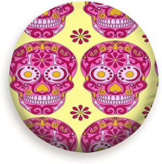 Spare Tire Cover Wheel Protectors Weatherproof Polyester Tire Case for All Cars Jeep RV SUV Camper 14 15 16 17 Inch, Holy Death Day Dead Mexican Abstract Signs Symbols