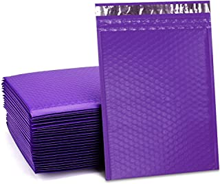 UCGOU 8.5x12 Inch Purple Poly Bubble Mailers Padded Envelopes Self Seal Mailing Envelopes Bags Pack of 25