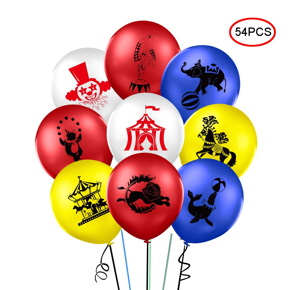 54Pcs Carnival Circus Animals Balloons 12 Inch Latex Balloons Party Balloons  Clown Decorations for Kids Adults Birthday Carnival Party Decoration - Buy  Online in Pakistan. | [missing {{category}} value] Products in Pakistan -
