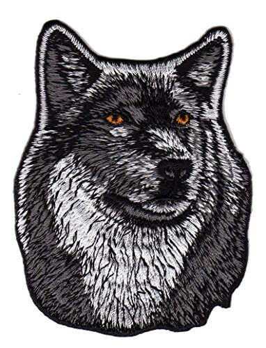 Wolf Hund Aufnäher Bügelbild Iron on Patches Applikation