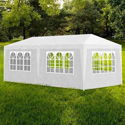 WEILANDEAL Pavillon-Garten-Zelt Reception Chapiteau weiß 3x 6mcadre: Stahl Rohrmotor Gartenpavillon Garten aus Kontostand