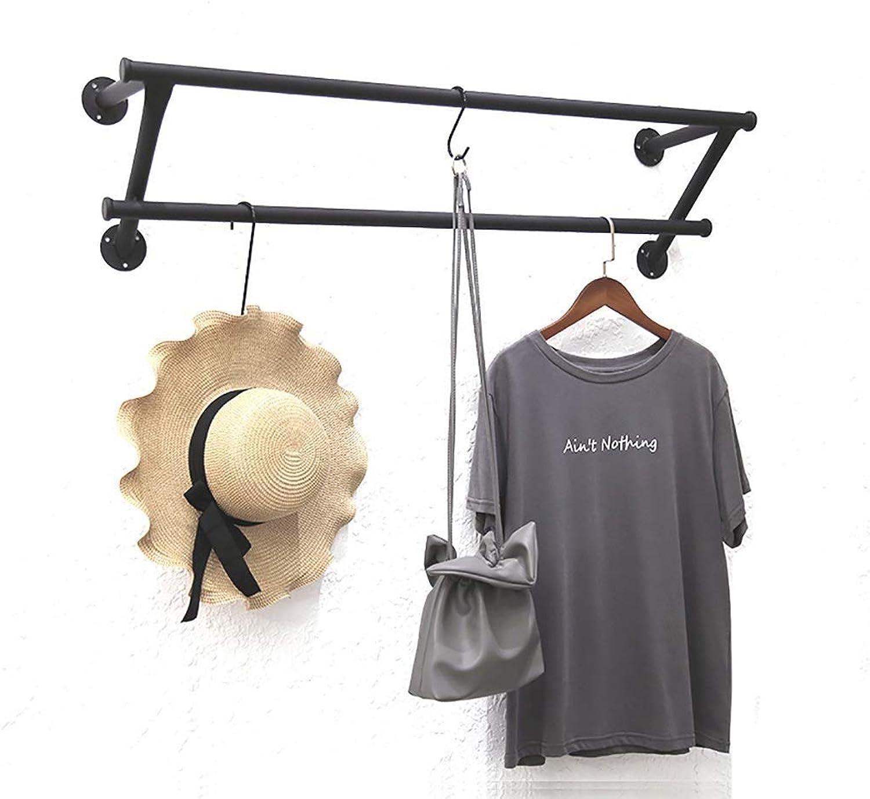 Wall-Mounted Coat Rack On The Wall Wrought Iron Hangers Side Hanging Display Rack (Size   80cm)