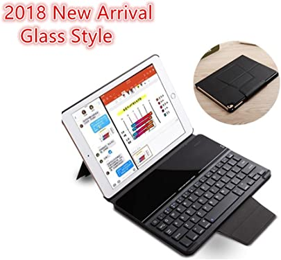 iPad Tastatur Schutzh lle f r iPad 9 7 nbsp 2018 9 7 nbsp 2017 Pro 9 7 Air Air 2 nbsp H lle  magnetisch Abnehmbare Slim Folio Kickstand Business Tastatur Cover mit Glas f r Apple iPad 24 6 nbsp cm