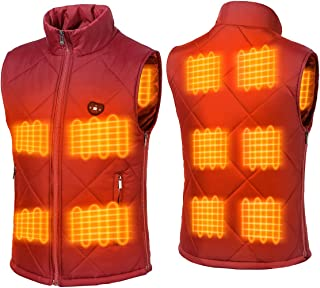 FERNIDA Electric Heated Vest Size Adjustable USB Charging Body Warmer Thermal Heating Vest Jacket(Battery Not Included)