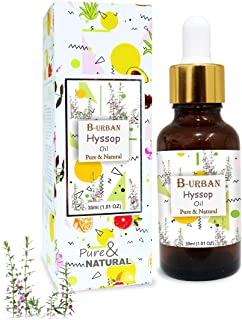 B-URBAN Hyssop Oil 100% Natural Pure Undiluted Uncut Essential Oil 30ml
