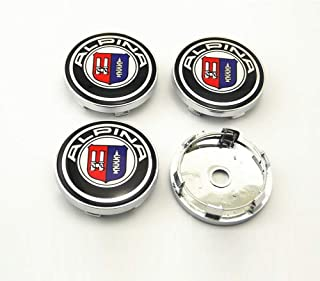 4PCS 56.5mm//2.2inch Auto Car Sticker Wheel Center Hub Cap Logo Aluminium fit for Audi