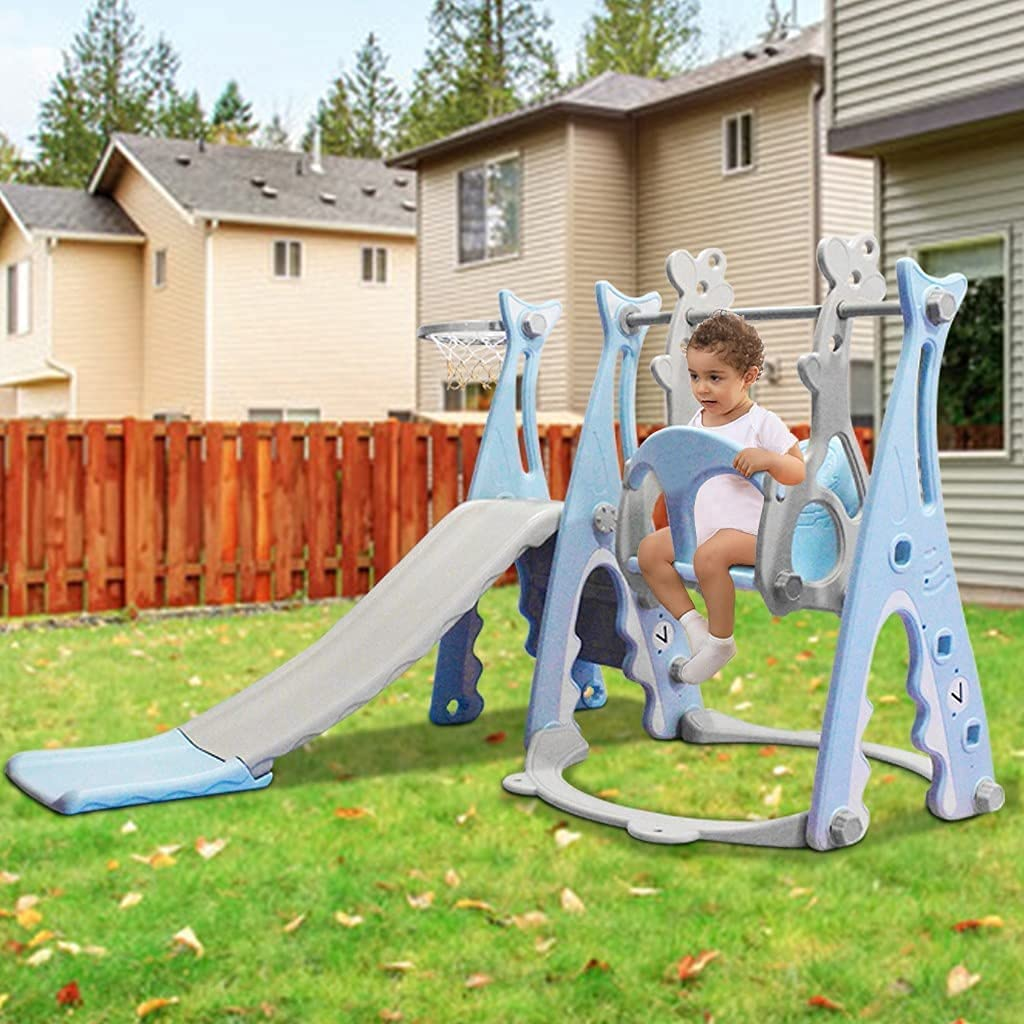 ETHY Toddler Climber and Swing Set, 3 in 1 Climber Sliding Plays