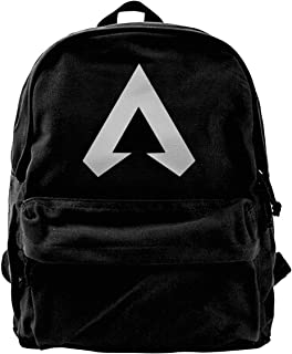 Apex Legends - Mochila de lona con logotipo de Apex Legends para gimnasio, senderismo, portátil, bolsa de hombro para homb...