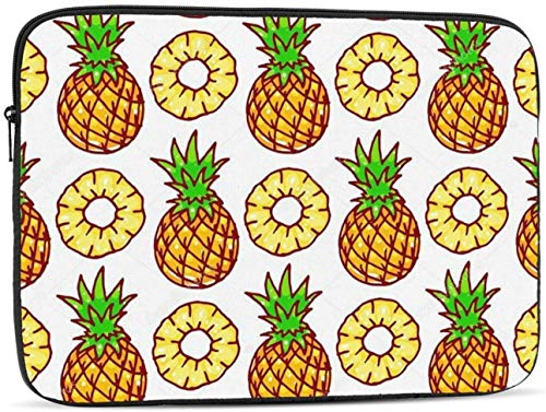 Pineapples Laptop Sleeve Bag - Evecase 17 Inch Neoprene Universal Sleeve Zipper Protective Cover Case for Notebook