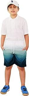 Kids Boys Shorts Fade Two Tone Blue Summer Chino Short Knee Length Pants 3-13 Yr