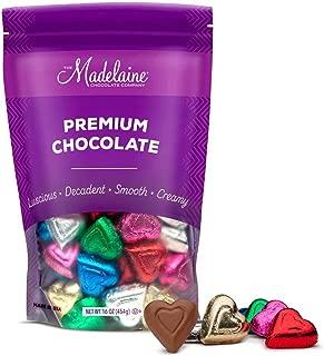 Madelaine Solid Premium Milk Chocolate Mini Hearts Wrapped In Italian Foil (Rainbow, 1 LB)