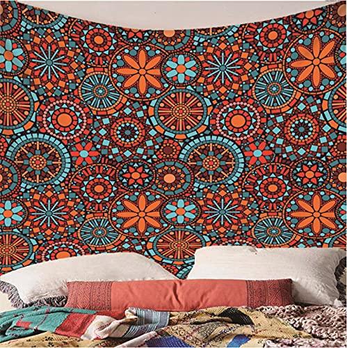 Weibing Tapiz de impresión en Color 3D Estilo nórdico diseño de Moda Hoja Abstracta patrón de Flores decoración del hogar tapices Arte de Pared para Habitaciones 260(An) x240(H) cm
