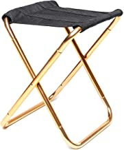 Camping Fishing Chair Portable Camping Picnic Beach BBQ Folding Stool (Color : Gold) leilims (Color : Gold)