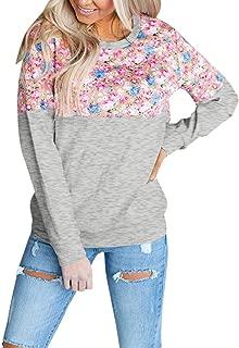 Aberimy/Damen/Stillshirt/Langarm/Vogel-Druck Casual Maternity/Langarmshirt/Stillpullover/Stilltop/Umstandsshirt/Mode Schwangerschaft/Umstandsmode/Still/Shirt/Oberteile/T-Shirt
