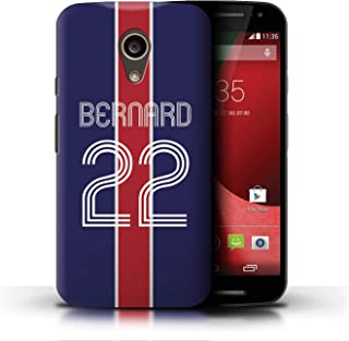 Personalized Custom Euro Soccer Club Jersey Kit Case for Motorola Moto G (2014) / Blue Red Design/Initial/Name/Text DIY Cover