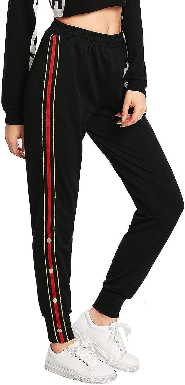 Tempatation Women's Running Thermal Fleece Pant Zip Pocket Sweatpants
