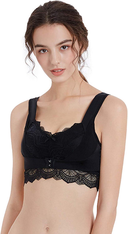 A2A Lace Bralettes for Women Bralette Padded Lace Bandeau Bra Nursing Bra Wireless Bra Sleeping Maternity Bra Sleepwear Black
