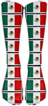 Customize Fashion High Long Socks Coloring Pages Mexican Flag Printable Soft Fashionable Stockings for Hiking,Running,Volleyball