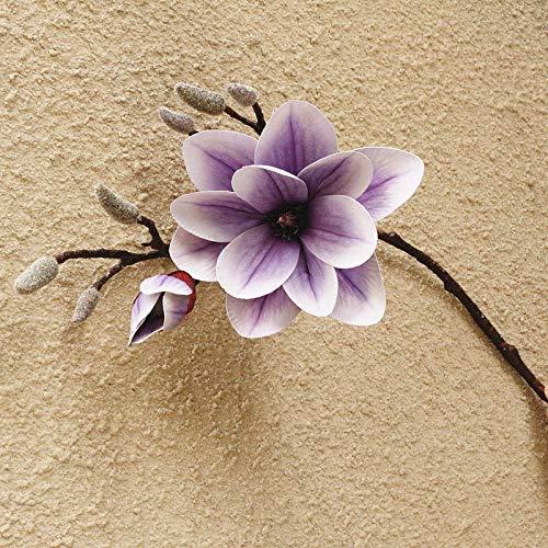 Charm4you Decorazione dell'ufficio,composizioni Floreali,Simulazione Decorazione Vaso casa Magnolia-Basket Viola_6 pz,Decorazioni da l'home Fiori Artificiali