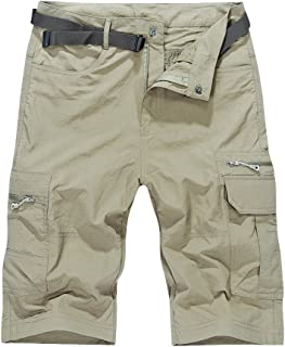 Men's Outdoor Water-Resistant Quick Dry Cargo Shorts