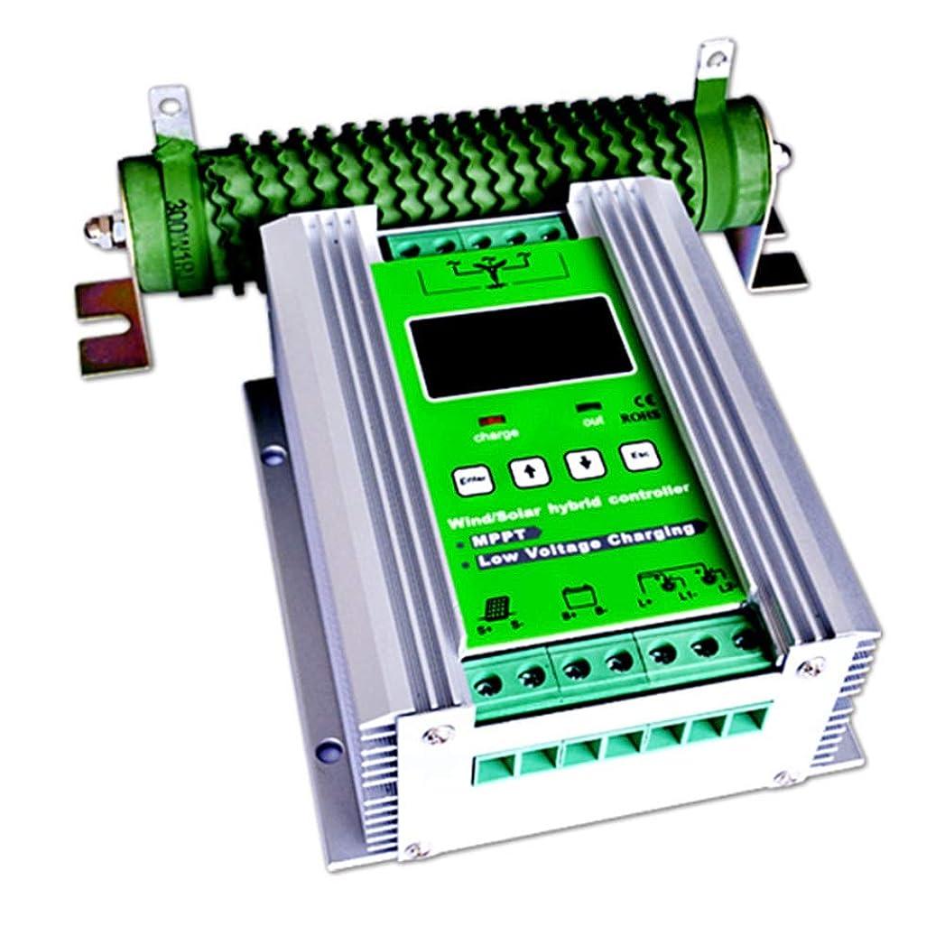 絶滅させるドレスピラミッドソーラーチャージャーコントローラー 600W MPPT ソーラーパネル用 充放電コントローラー 400W風力タービン 200W太陽電池 充電コントローラー 12V/24V 自動ブースト ソーラー充電