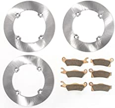 Race Driven Front & Rear MudRat Brake Rotors & Pads for Can-Am Outlander Max XMR XT XTP 450 500 570 650 800 800R 1000R