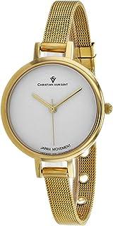 Christian Van Sant Women's Grace Quartz Stainless Steel Strap, Gold, 8 Casual Watch (Model: CV0283)