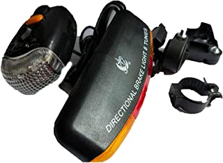 HCDjgh Bicycle Lights Front and Rear Rechargeable Solar, Led Bike Turn Signal Directional Brake Light Lamp Sound Horn ღHeadlight-Taillight Combinations