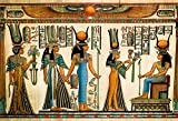 LFEEY 5x3ft Gods of Egypt Backdrop for Photography Egyptian Decor Ancient Egyptian Mythology Sphinx Egypt Parchment Hieroglyphic Photo Background for Travel Vacation Photoshoot Studio Props