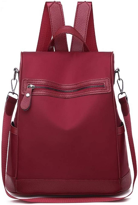 LKHJ Ruckscke Marke Rucksack Frauen Umhngetasche Solide Schultaschen Oxford Leder Ruckscke Rucksack Bagpack