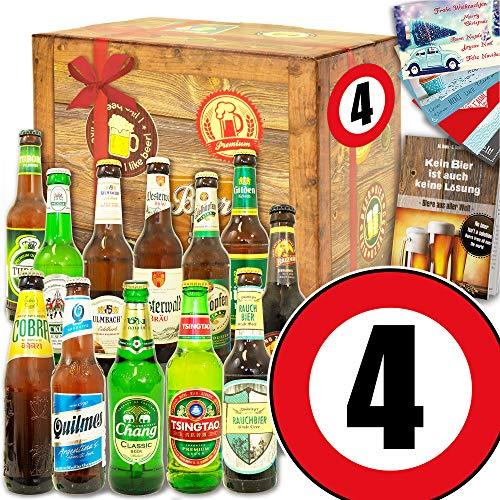 4. Hochzeitstag - Geschenk 12x Bier Welt und DE - Geschenk 4 Jahre Jubiläum