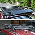 Wotefusi Car New Black Top Roof Rack Rail Cross Bars Luggage Carrier Cargo Storage Frame Box Universal For Jeep Cherokee Grand Cherokee Compass Liberty
