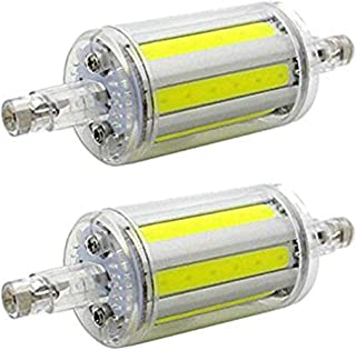 CTKcom R7S 78mm COB LED Bulbs(2 Pack)- J Type 78mm Double Ended 8W 650LM Halogen Bulbs Cool White 6000K,R7S Double Ended Filament Flood Lights Tube Lamps 70W Replacement T3 Halogen Bulb,AC85-265V