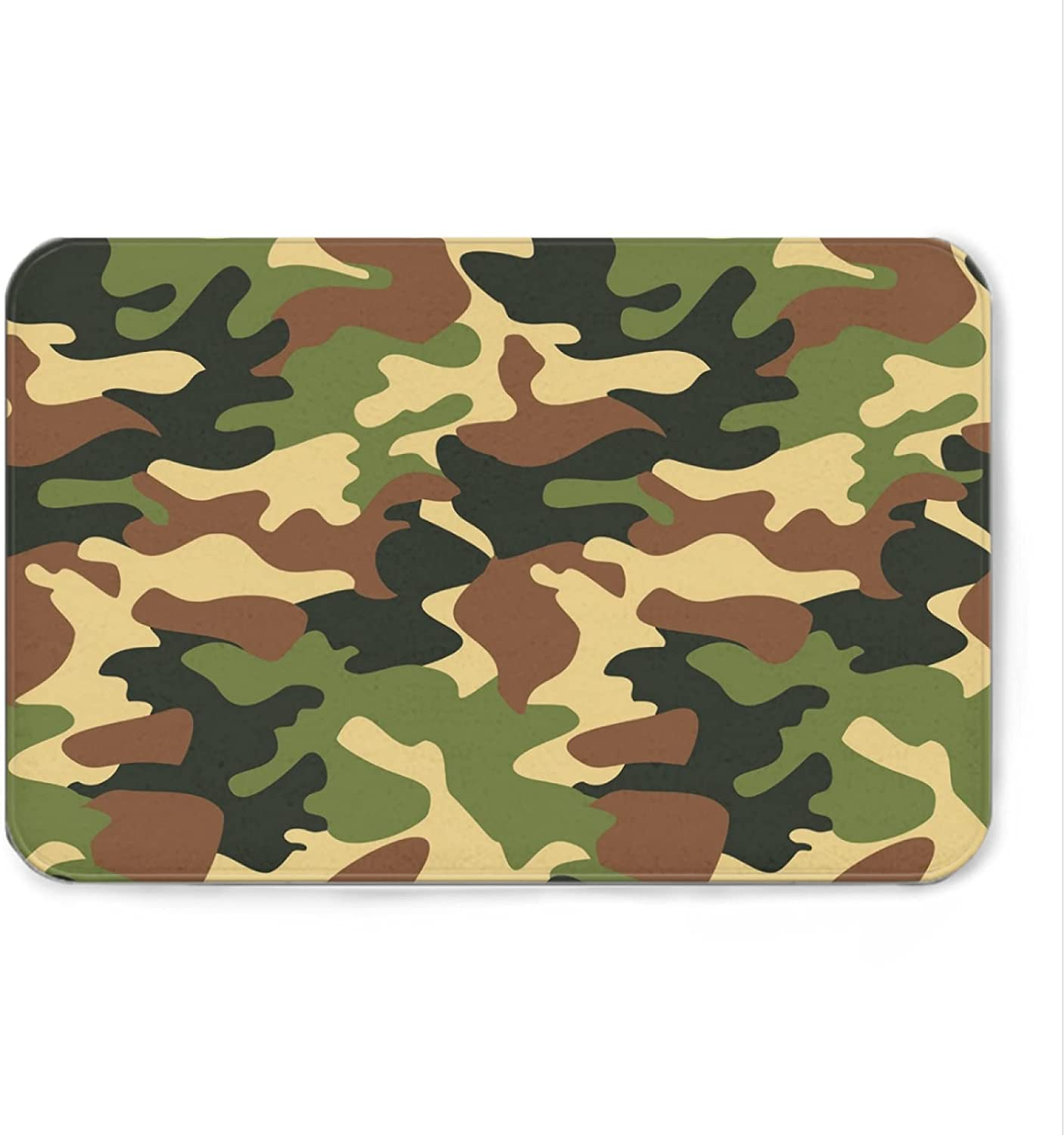 Camouflage Welcome Mat Bath Rugs Non-Slip NEW before selling Mail order cheap Bathroom Doormat