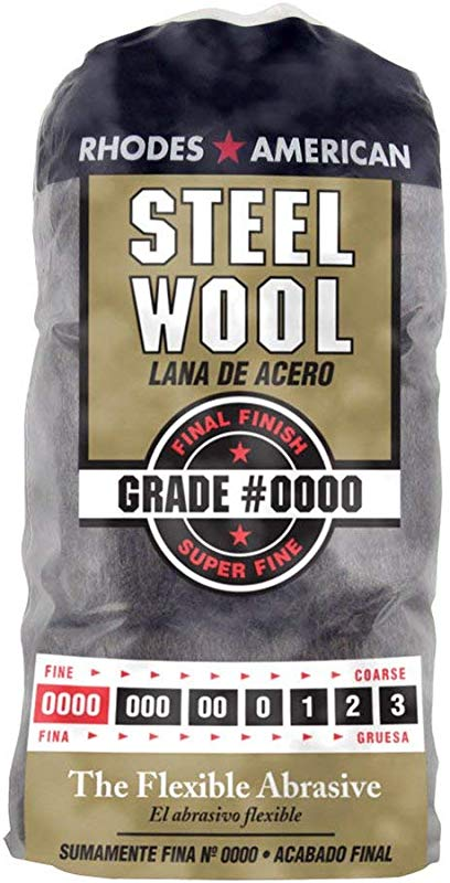 Steel Wool 12 Pad Super Fine Grade 0000 Rhodes American Final Finish