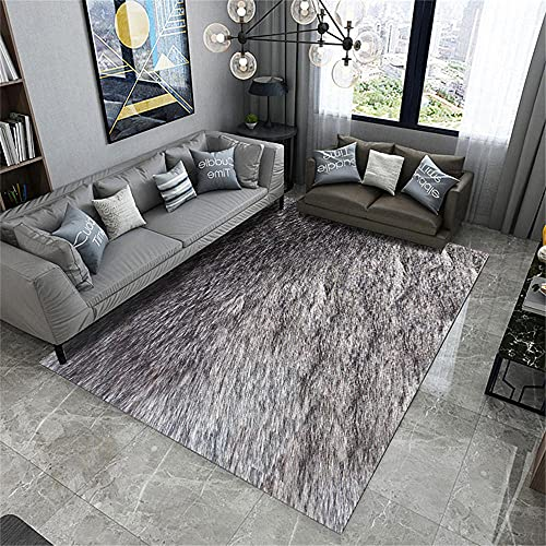 AU-OZNER bedside rug,Pure gray carpet baby crawling minimual wear resistant durable vacuum carpet,boys bedroom rugs -gray_80x120cm