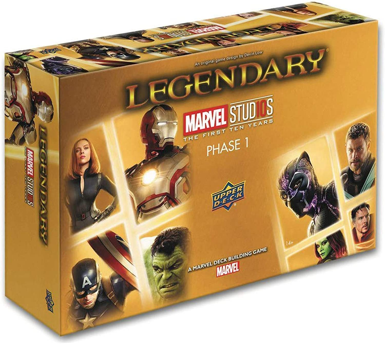 Upper Deck UPD90291 Legendary  Marvel Studios 10th Anniversary Deck Building Card Game, Mixed Colours