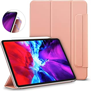 "ESR Rebound Magnetic Smart Case for iPad Pro 12.9"" 2020/2018, Convenient Magnetic Attachment [Supports Pencil Pairing & Ch..."