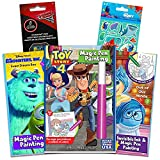 Invisible Ink Activity Book Set for Kids Toddlers -- 3 Travel Activity Books Bundle Featuring Toy Story, Inside Out, Monsters Inc with Invisible Ink Pens and Over 100 Bonus Stickers