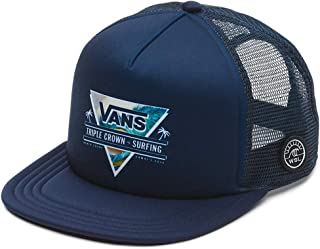 146539bdcfc Vans Off The Wall Men s VTCS Logo Triple Crown of Surfing Trucker Hat Cap