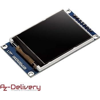 AZDelivery 1,77 Zoll TFT Display 128x160 Pixeln kompatibel mit Arduino inklusive E-Book!