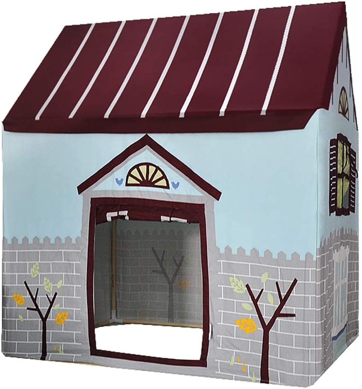 Spielzelte Kinderzelt Indoor-Spielhaus Outdoor Innenschloss Kinderspielzimmer Kinder Geburtstagsgeschenke (Farbe   rot, Größe   Tent+mat)
