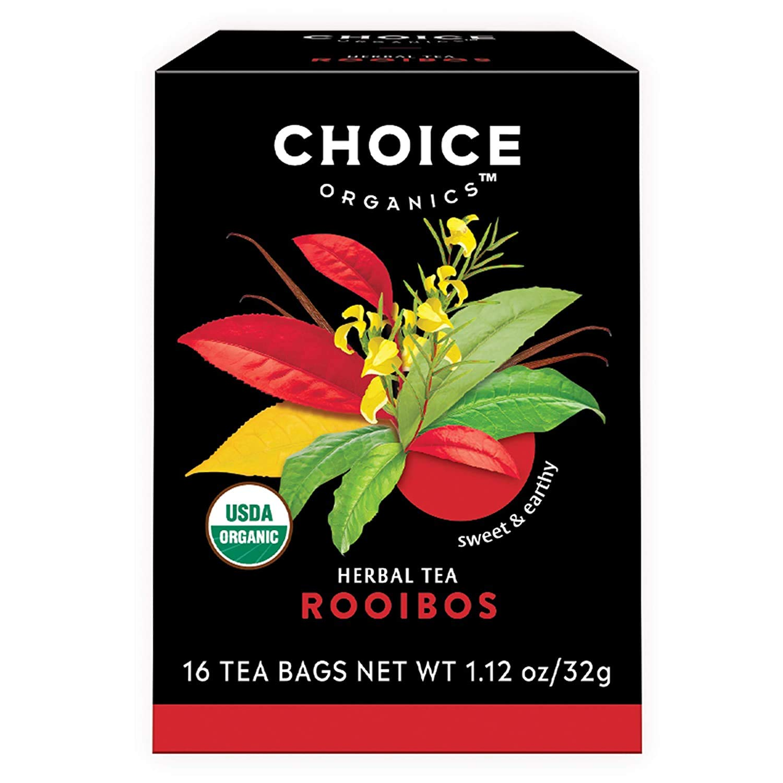 Choice Organic Teas Rooibos Red New mail order Bush Bags Tea 16 Nippon regular agency - Of Case