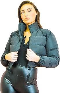 Momo&Ayat Fashions Ladies Reflective Cropped Puffer Jacket AUS Size 6-14