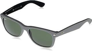 RB2132 New Wayfarer Sunglasses, Grey on Black/Green, 58 mm