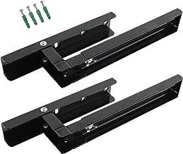 Spares2go Soportes de montaje de pared extensibles para microondas Bosch (negro)