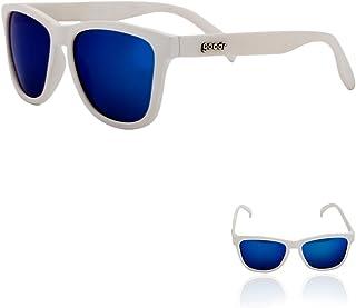 OG Polarized Sunglasses Iced by Yetis/White/Blue Lens,...