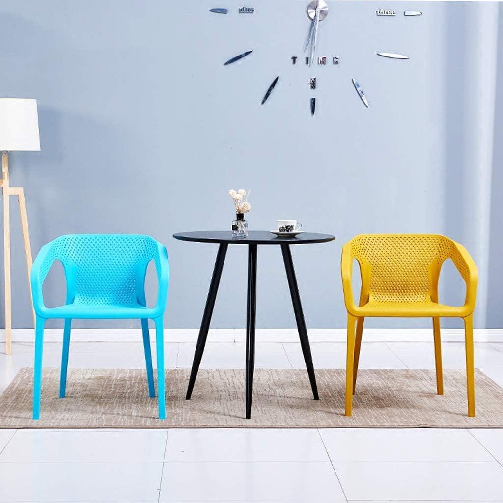 JT- Chaise de Salle, Chaise de Bureau Simple, créative Dossier, Chaise Loisirs, Maison Adulte Chaise de Salle Doux et Confortable (Color : Blue) Yellow