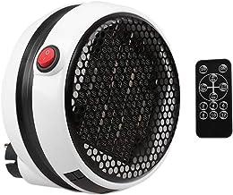 NiLeFo Mini Estufa Eléctrica - Calefactor Cerámico de Aire Caliente de Ventilador - Calefactor Portátil Pared con Salida de Pared y Pantalla Digital con Temporizador Ajustable para el Hogar