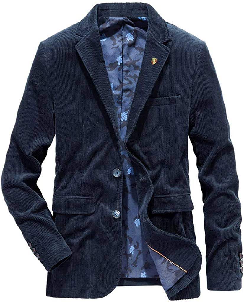 Fashion Blazers for Men Autumn Winter Casual Warm Thicken Outwear Jacket Coat